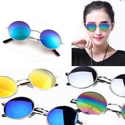 Männer Frauen Vintage Runde Sonnenbrille Mode UV Brille Runde Outdoor Eyewear
