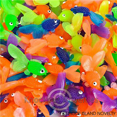 144 Vinyl Goldfish Prize Vending Fun Toy Novelty