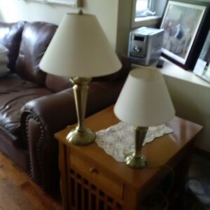 Lamps - 2 brass