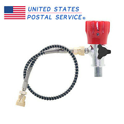 PCP Fill Adapter M18x1.5 Thread Air Tank Regulator With Hose AirsoftScuba -