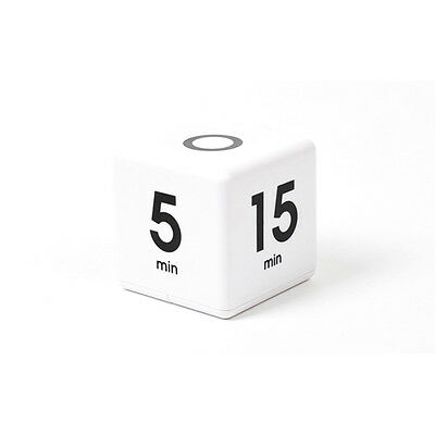 Datexx Miracle Cube Timer 5-15-30-60 MINUTE PRESET TIMER DF-33_White