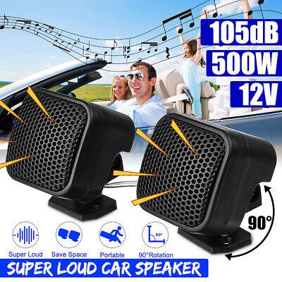 Pair 12V 500W Car Audio Music Stereo Super Sound High Tweete