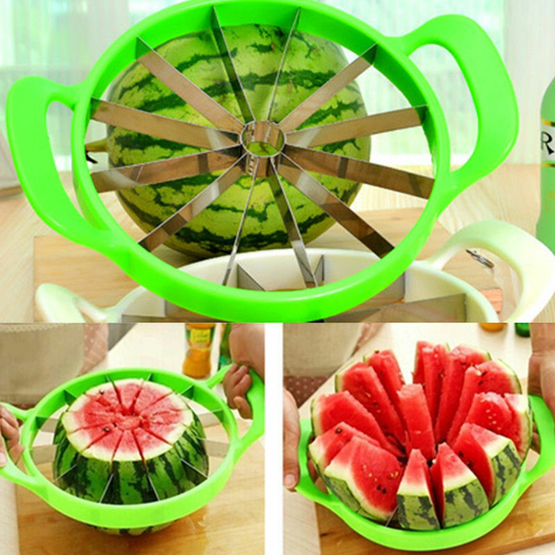 New Fruit Watermelon Melon Cantaloupe Stainless Steel Cutter Slicer Kitchen Tool Home & Garden