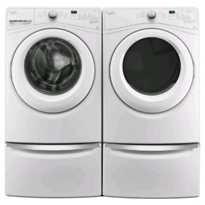 WHIRLPOOL STACKABLE FRONT LOAD LAUNDRY PAIR