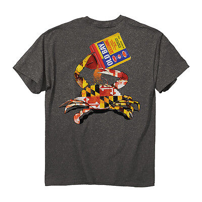- Old Bay Open Can Men's MD Crab T-Shirt - Maryland My Maryland - NEW