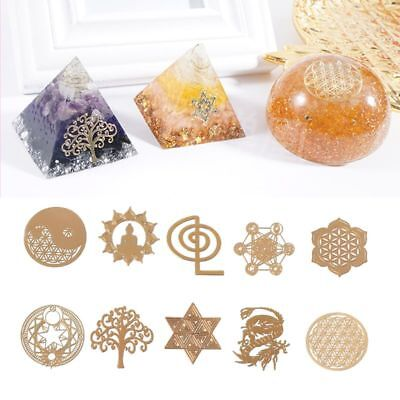 Energy Tower Pattern Paste Copper Stickers DIY Making Mould Craft Jewelry Tool - Copper Stickers