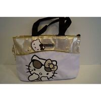 Borsa Originale Hello Kitty A Mano Colore Bianca E Oro Af57-129170 - hello kitty - ebay.it
