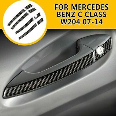 Carbon Fiber Outer Door Handle Cover Trim For Mercedes Benz C Class W204 2007-20
