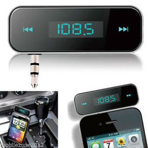 Car Kit Wireless MP3 FM Transmitter Auto Radio Adapter For Mobile Phone iPod UK