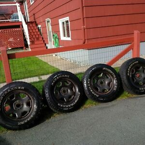 16 INCN SNOW TIRES AND RIMS