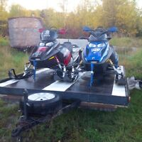 Two 600 HO Ski-Doo Snowmobiles and trailer 10,500 $ # NO EMAILS#
