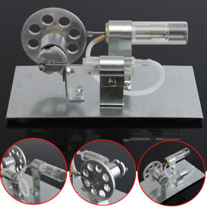 Mini Hot Air Sterling Engine Model Miniature Steam Toy Physics Experiment Tool
