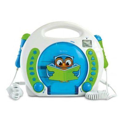 X4-TECH BobbyLese  Joey Eule Kinder CD-Player mit Karaoke Netzteil gebraucht kaufen  Braunschweig
