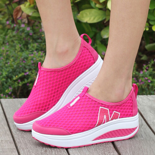 2015 Hot Womens Summer Mesh Sport Sneaker Breathable Flat Platform Athletic Shoe
