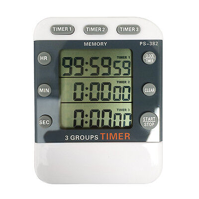 Digital LCD Count Up/Down Timer and Clock 3 Event,Stopwatch,Large Display,Magnet - Event Digital Timer