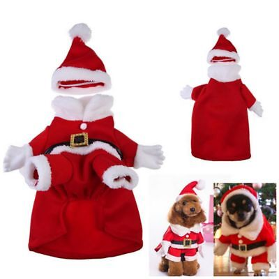 Weihnachten Hundekleidung Haustier Pullover Wintermantel Welpe Hundejacke Kostüm