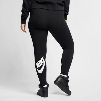 Womens Nike sportswear Leg a see leggings pant plus size 3x 3xl xxxl Black LOGO Nike Womens Sportswear