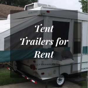 Tent Trailers For Rent!