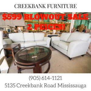 2 Peice Sofa Set Blowout! $599 for 2 Peices!