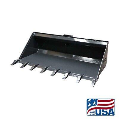 New 84 Inch Hd Skid Steer Low Profile Dirt Bucket With Teethkubotabobcatetc