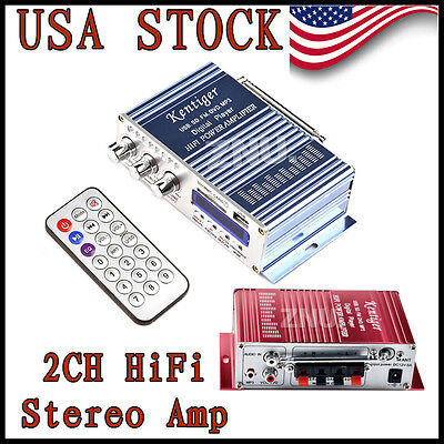 Mini Auto Car Home FM Radio Hi-Fi Stereo Audio Amplifier AMP 12V 200W
