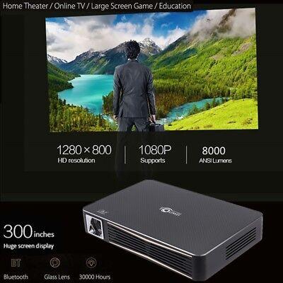 True 8000 Lumens HD 1080P DLP 3D Wifi Home Theater Projector RJ45 HDMI Cinema SD