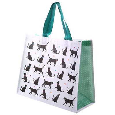 Puckator I Love Mein Katze Design Einkaufstasche Wiederverwendbar Einkaufswagen