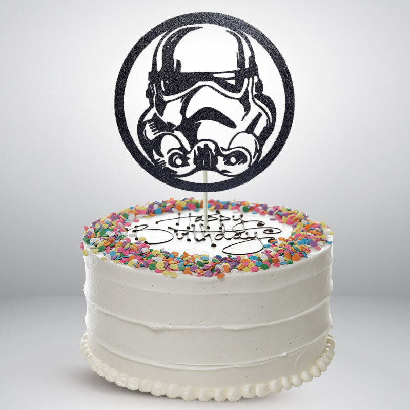 Excellent Storm Trooper Birthday Cake Toppers Glitter Die Cut Bling Sparkle Funny Birthday Cards Online Elaedamsfinfo