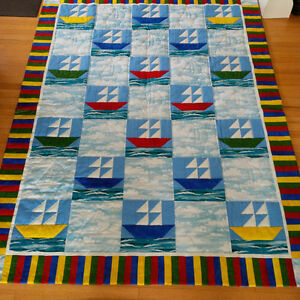 "Quilt - Baby - 47"" by 64""  - hand quilted"