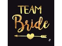 Gold Team Bride Tattoo Temporary Hen Night Party Accessories Wedding fashion
