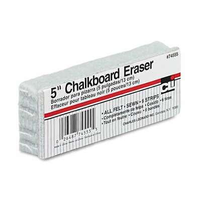 Charles Leonard 5-inch Chalkboard Eraser Wool Felt 5w X 2d X 1 026487745555