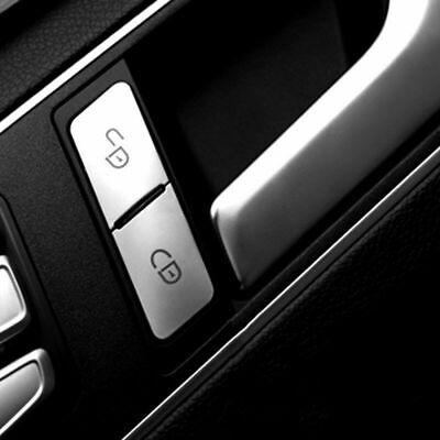 Passend zu Mercedes Benz GLA CLA C E Türverriegelung Blenden Silber