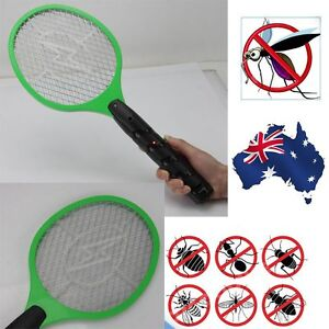 NEW Bug Zapper Racket Electric Mosquito Fly Swatter Killer Insects Handheld AU