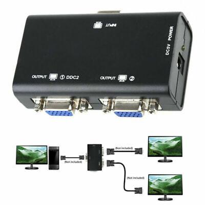 1 PC to 2 Monitor 2 Port VGA SVGA Video LCD Splitter...