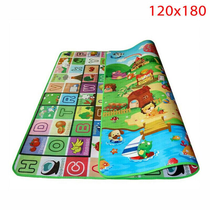Extra Large Crawl Mat Baby Kid Toddler Playmat Waterproof 2 Side Play Carpet qwe