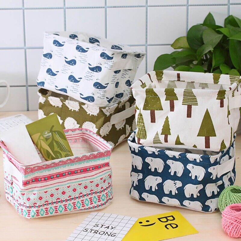 Foldable Storage Collapsible Folding Box Fabric Cube Room Basket Organizer Case