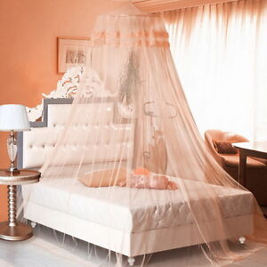 Round Lace Bed Canopy Netting Curtain Dome Mosquito Net