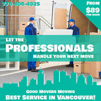 VANCOUVER AREA MOVERS☺AVAILABLE ANYTIME☺MOVERS