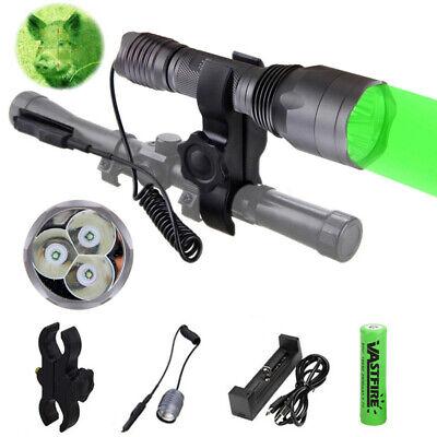 Rot Grün Licht 3X XPE LED Hog Night Jagd Taschenlampe für Gewehr W/ Scope Mount Taschenlampe Mount