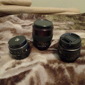 Pentax K mount lenses - 28mm/2.8 50mm/2 135mm/2.8