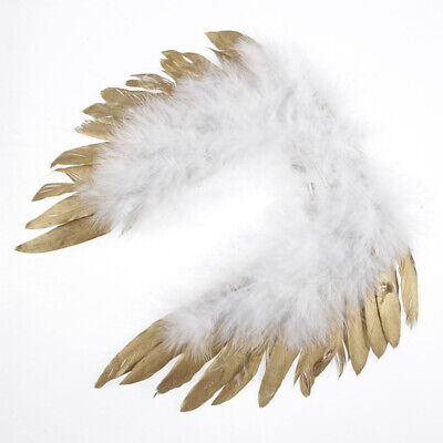 Gold Costume Wings (Girls Boys Angel Wings Costume Outfits Photo Photography Props for Newborn)