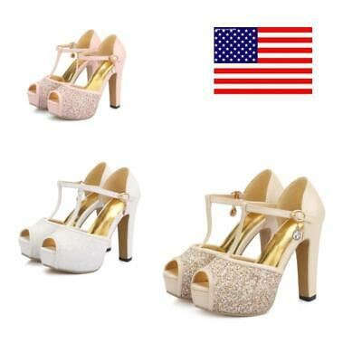Womens Open Toe Platform Cute Sandals T-strap Mary Janes Shoes Summer Dating New