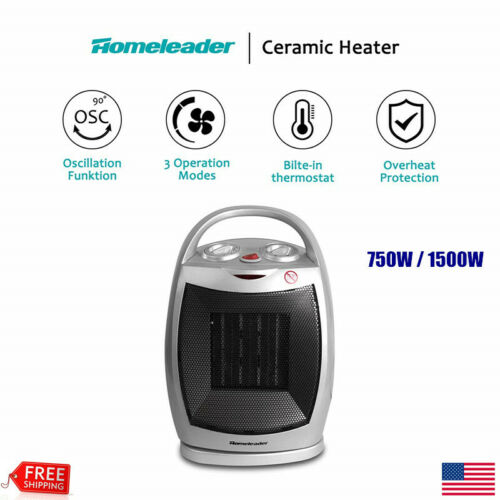 Portable Electric Ceramic Space Heater Home Office Heating F