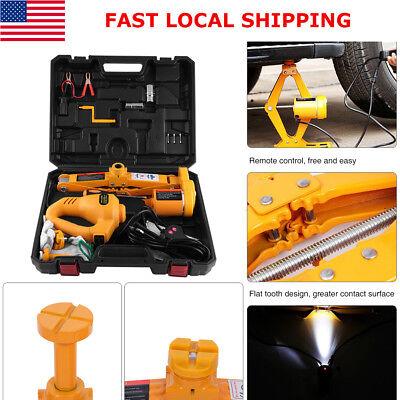 3Ton Automotive Electric Scissor Car Jack Lift DC 12V Wrench 1/2