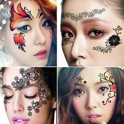 Masquerade Eye Face Art Transfer Body Stickers Festival Party Tattoo - Masquerade Mask Face Stickers