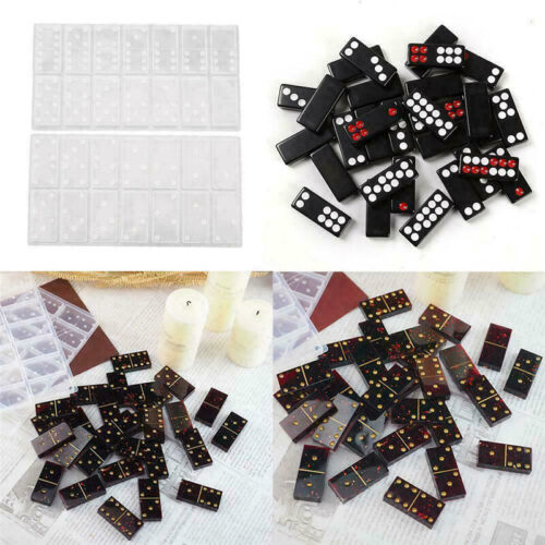 2pcs silicone dominoes game toy resin mold