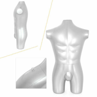 Man Whole Body Armless Inflatable Mannequin Dummy Torso Model Fashion Durable