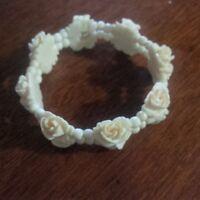 vintage real ivory bracelet