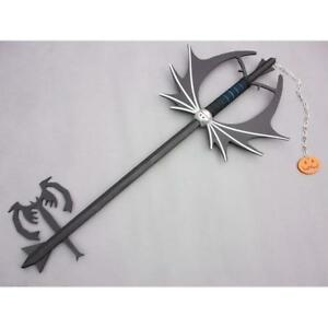 Kingdom Hearts II Sora Halloween Pumpkin head Keyblade Cosplay  220184
