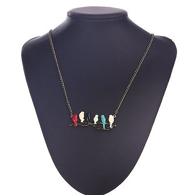 Vintage Enamel Fashion Jewelry Birds Pendant Long Chain Necklace Women Party Hot